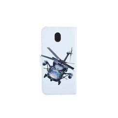 Samsung Galaxy J7 (2017) Pasjeshouder Print Booktype hoesje - Magneetsluiting - Kunststof;TPU