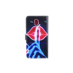 Samsung Galaxy J7 (2017) Titulaire de la carte Print Book type housse - Fermeture magnétique