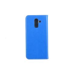 Samsung Galaxy J8 (2018) Titulaire de la carte Bleu Book type housse - Fermeture magnétique