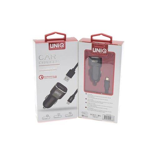 UNIQ Accessory UNIQ Accessory Autolader Micro USB 2.4A - Zwart