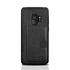 Pierre Cardin silicone backcover voor Galaxy S9 - Zwart (8719273146057)
