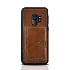 Pierre Cardin silicone backcover voor Galaxy S9 - Bruin (8719273146071)