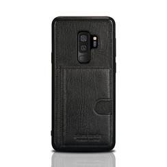 Pierre Cardin silicone backcover voor Galaxy S9 Plus - Zwart (8719273146088)