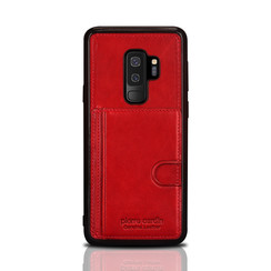 Pierre Cardin silicone backcover voor Galaxy S9 Plus - Rood (8719273146095)