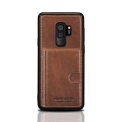 Pierre Cardin silicone backcover voor Galaxy S9 Plus - Bruin (8719273146101)