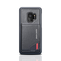Pierre Cardin silicone backcover voor Galaxy S9 - Zwart (8719273145999)