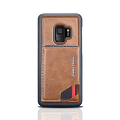 Pierre Cardin silicone backcover voor Galaxy S9 - Bruin (8719273146019)
