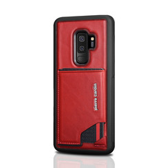 Pierre Cardin silicone backcover voor Galaxy S9 Plus - Rood (8719273146033)