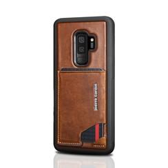 Pierre Cardin silicone backcover voor Galaxy S9 Plus - Bruin (8719273146040)