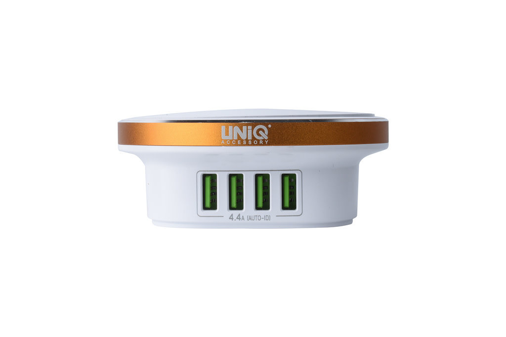 UNIQ Accessory UNIQ Accessory with Led Press Lamp USB 4 ports 4.4A Fast charging - Wit
