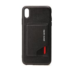 Pierre Cardin backcover voor iPhone XR - Zwart