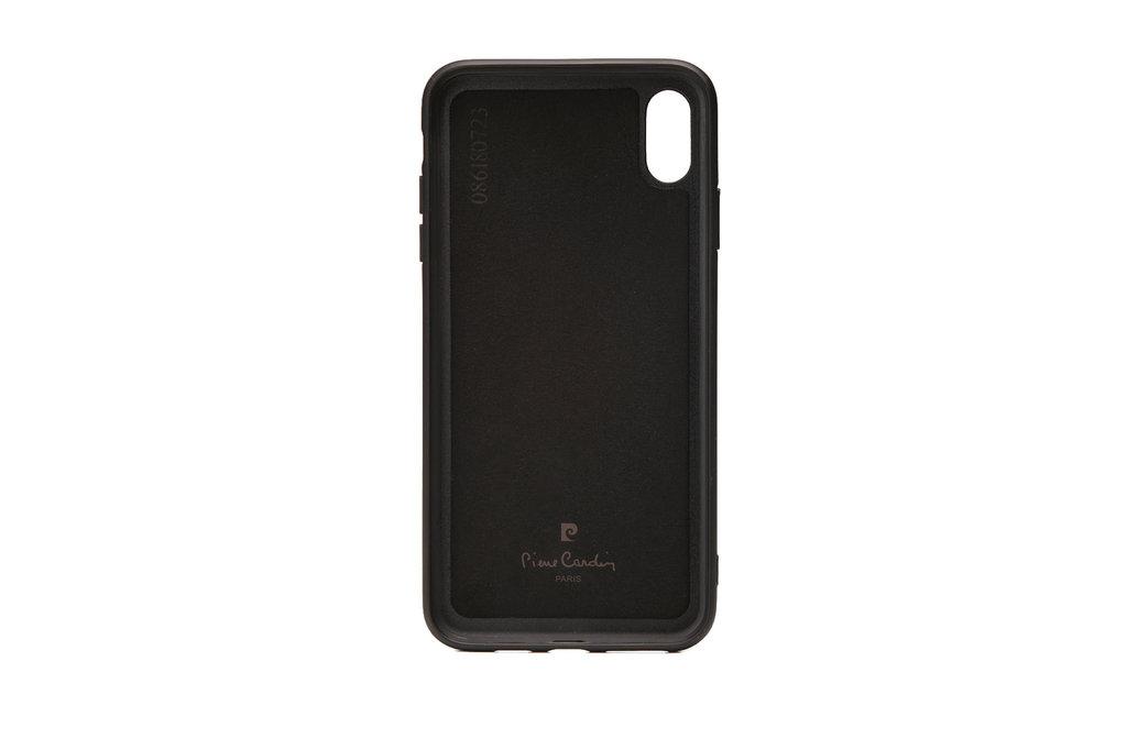 Pierre Cardin Pierre Cardin backcover voor iPhone XR - Zwart