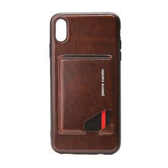Pierre Cardin silicon coque pour iPhone XR - D Marron