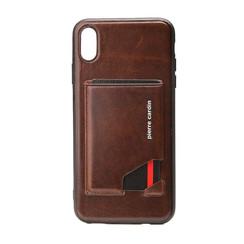 Pierre Cardin Silikonhülle für iPhone XR - Dunkel Braun
