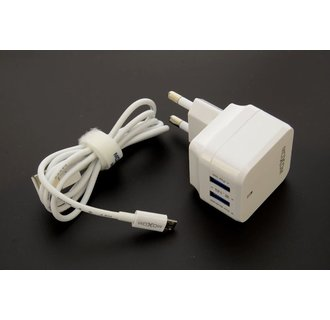 Moxom thuislader - Micro USB 2.4A - Wit
