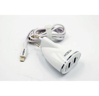 Moxom thuislader - Apple Lightning 2.4A - Wit