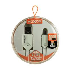 Moxom datakabel - Micro USB - Wit