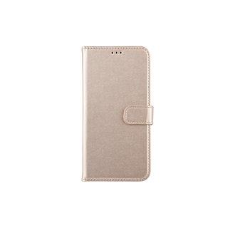 Samsung Galaxy A30 Pasjeshouder Goud Booktype hoesje - Magneetsluiting - Kunststof;TPU