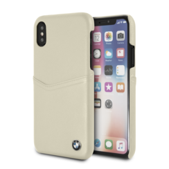 BMW back cover pour iPhone X-Xs - Taupe