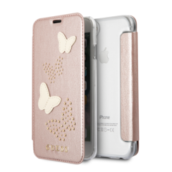 Guess book case for iPhone 7-8 - Pink