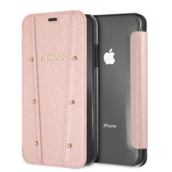 Guess book case for iPhone XR - Gold