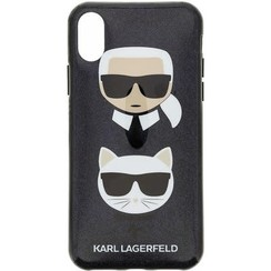 Karl Lagerfeld backcover voor Apple iPhone X-Xs - Zwart