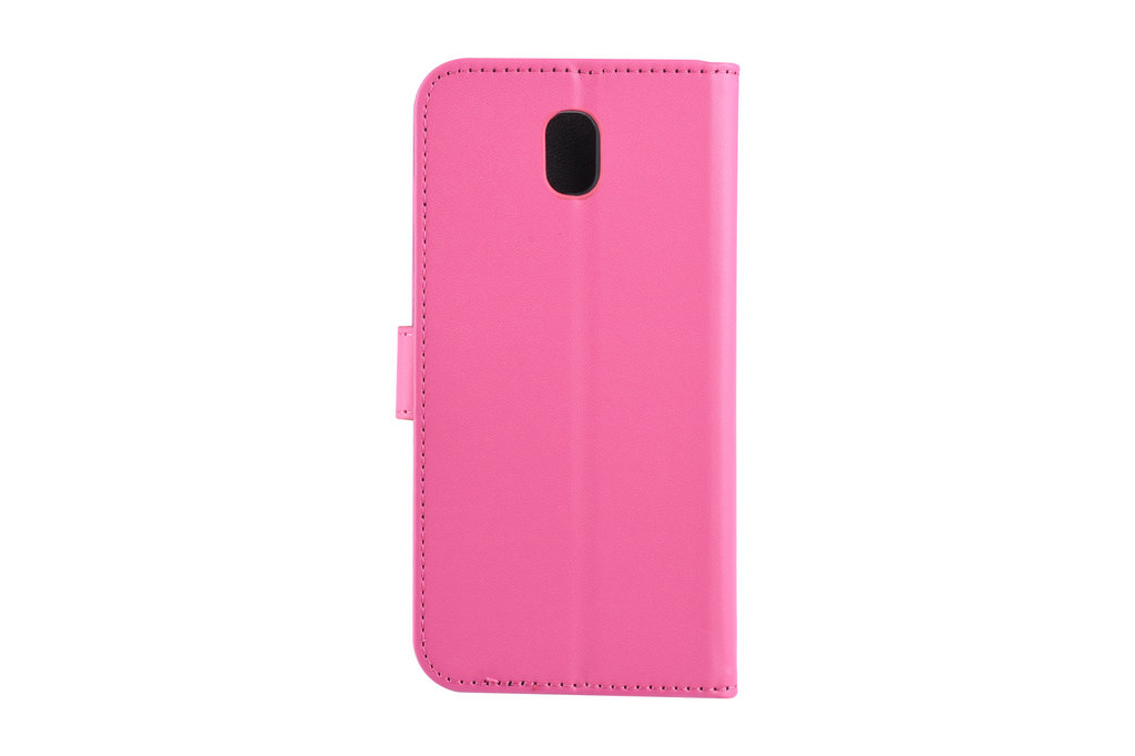 Book Case for Galaxy J5 (2017) - Hot Pink