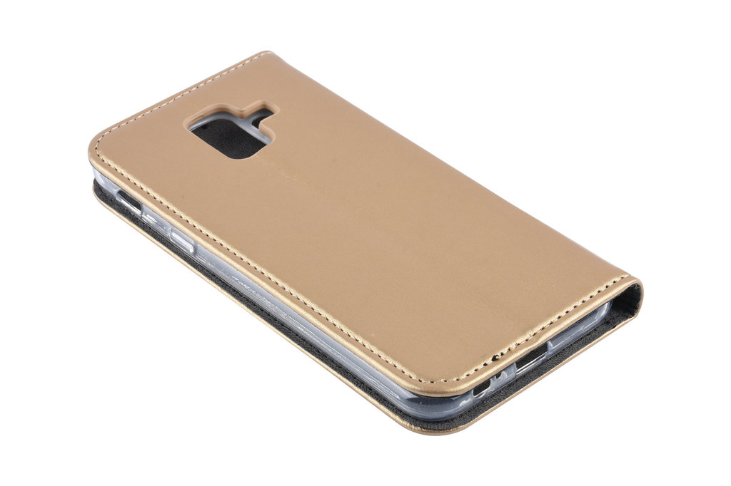 Book Case for Galaxy A6 (2018) - Gold