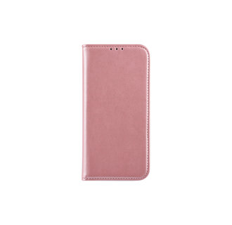 Samsung Galaxy A6 (2018) Pasjeshouder Roze Booktype hoesje - Magneetsluiting - Kunststof;TPU
