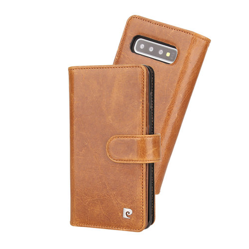 Pierre Cardin Pierre Cardin Book Case for Galaxy S10 Plus - Brown