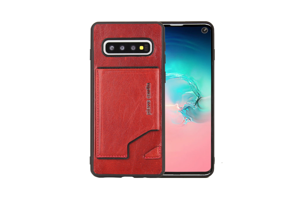 Pierre Cardin Pierre Cardin Back Cover for Galaxy S10 - Red