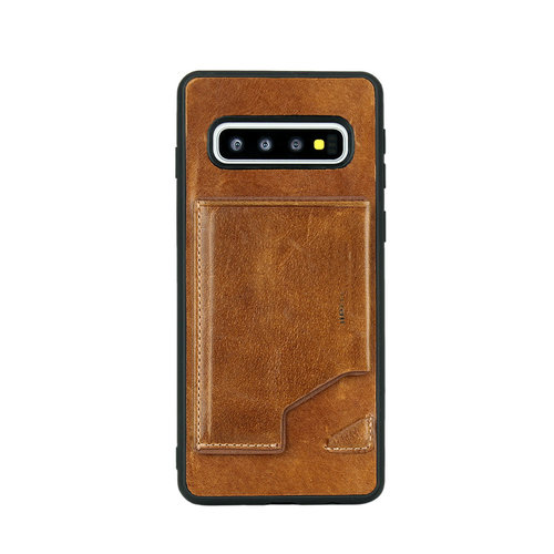 Pierre Cardin Pierre Cardin Back Cover for Galaxy S10 - Brown