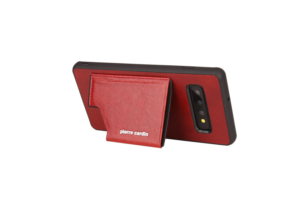 Pierre Cardin Pierre Cardin Back Cover for Galaxy S10 Plus - Red
