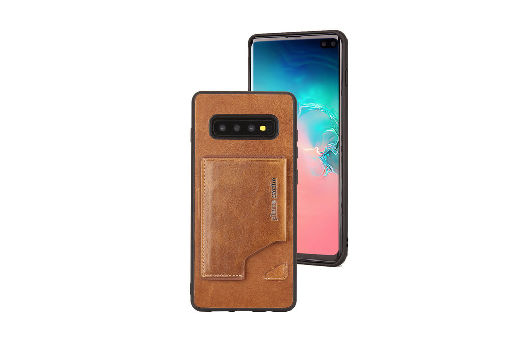 Pierre Cardin Pierre Cardin Back Cover for Galaxy S10 Plus - Brown