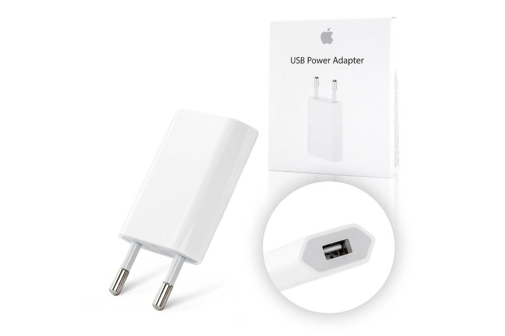 Apple Apple power adaptor MD813ZM/A USB 5W in blister - White
