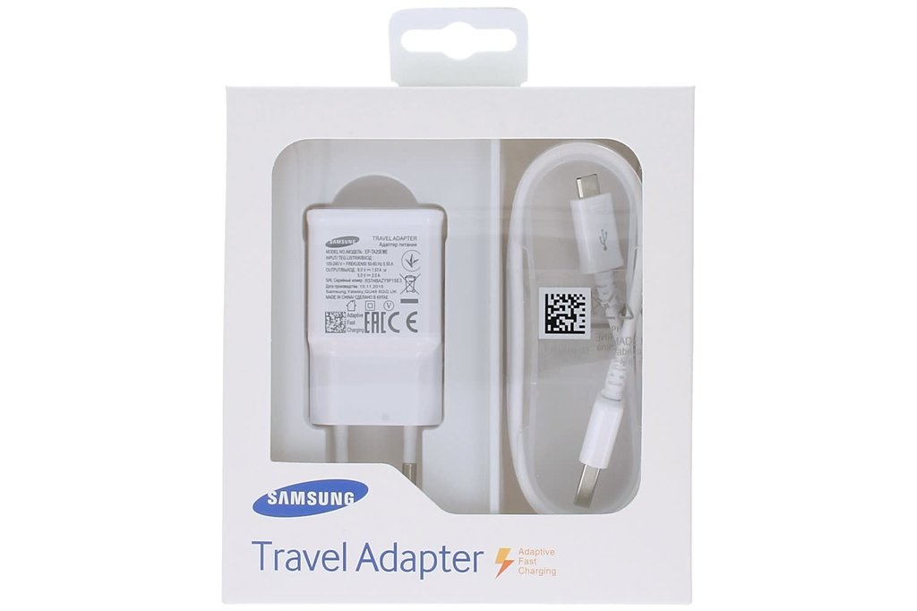 Samsung Samsung charger EP-TA20EWEUGWW Micro USB fast charger in blister - White
