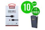 UNIQ Accessory 10 x Apple Lightning fast charging 2m kabel van UNIQ Accessory (+Gratis iPhone 6 Plus Case van Guess-3700740350034)