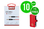UNIQ Accessory 10 x Audiokabel Anti-Winding AUX van UNIQ Accesory (+Free iPhone 6 Case van Guess-3700740362273)