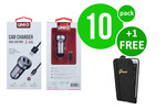 UNIQ Accessory 10 x Autolader Micro USB 2.4A van UNIQ Accessory (+Gratis iPhone 6 Case van Guess-3700740352601)