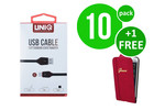 UNIQ Accessory 10 x USB Type-C fast charging 2m kabel van UNIQ Accessory (+Gratis iPhone 6 Plus Case van Guess-3700740349731)