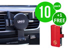 UNIQ Accessory 10 x Ventilatierooster autohouder van UNIQ Accessory (+Free iPhone 6 Case van Guess-3700740349762)