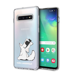 Karl Lagerfeld Coque pour Galaxy S10 - Transparent