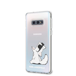 Karl Lagerfeld back cover for Galaxy S10e - Transparent
