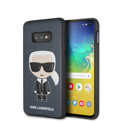 Karl Lagerfeld back cover for Galaxy S10e - Blue