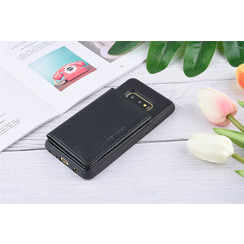 UNIQ Accessory Galaxy S10e Kunstleer Backcover hoesje - Zwart