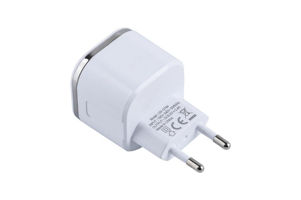 UNIQ Accessory UNIQ Accessory Dual Port 2.4A travel charger - Apple Lightning - White (CE)