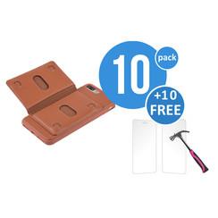 10 x Backcover voor Apple iPhone 7/8 Plus - Bruin - van UNIQ Accessory (+10 x Free Screenprotectors! 8719273229279)