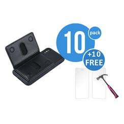 10 x Backcover voor Apple iPhone X - Zwart - van UNIQ Accessory (+10 x Free Screenprotectors! 8719273291238)