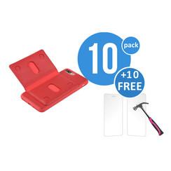 10 x Backcover voor Apple iPhone 7/8 Plus - Rood - van UNIQ Accessory (+10 x Free Screenprotectors! 8719273229279)