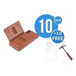 10 x Backcover voor Apple iPhone X - Bruin - van UNIQ Accessory (+10 x Free Screenprotectors! 8719273291238)